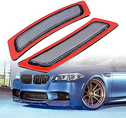 For F10 11-14 BMW 5 Series Front Bumper Smoke Reflectors Side Marker Light Lamp
