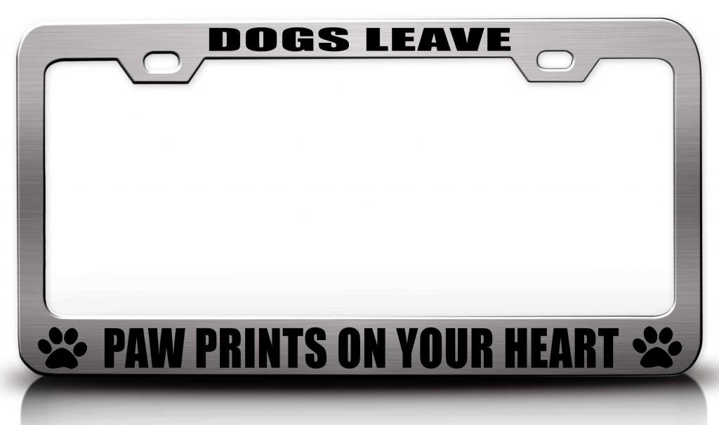 Amazon.com: DOGS LEAVE PAW PRINTS ON YOUR HEART Steel Metal License ...