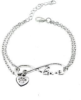 Pulsera - Amistad - Motivación - Colgante - Infinito - Amor - Amor - Corazón - Pata - Animal - Perro - Gato - Hombre…