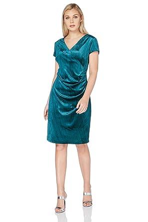 ef1a240743c Roman Originals Women s Green Velvet Wrap Dress Sizes 10-20 - Jade - Size 20