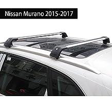 Fit for Nissan Murano 2015-2017 Lockable Baggage Luggage Racks Roof Racks Rail Cross Bar Crossbar - Silver