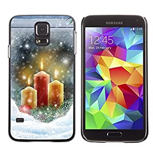 YOYO Slim PC / Aluminium Case Cover Armor Shell Portection //Christmas Holiday Snow Candles Window 1196 //Samsung Galaxy S5