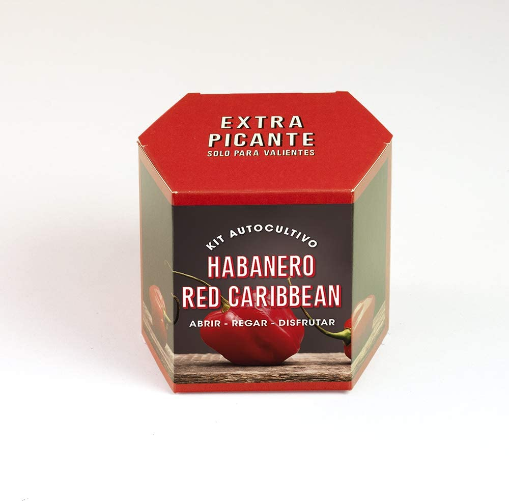 Kit autocultivo Habanero red caribbean
