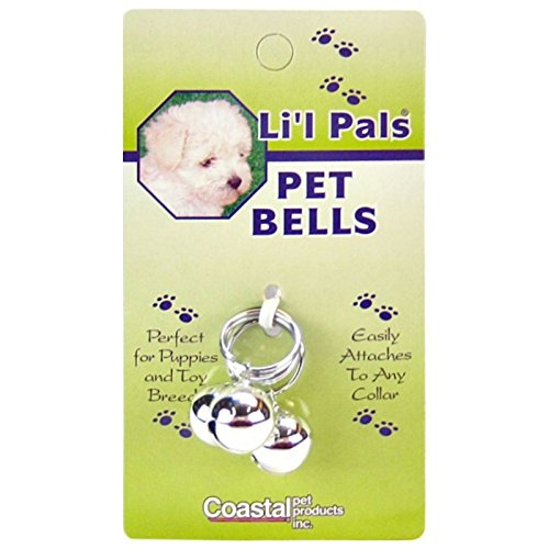 Coastal Pet Products DCP45105 3-Pack Li'l Pals Round Dog Bells, 1/2-Inch, Silver