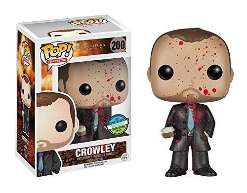 Supernatural POP! Vinyl Figure Crowley BLOOD SPLATTER Exclusive 9 cm