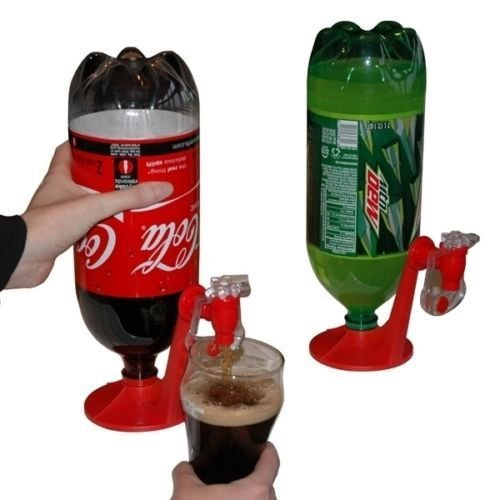 MAZIMARK--Drinking Soda Gadget Kitchen Tools Coke Party Drinking Dispenser Water - Keys Outlet Florida Center