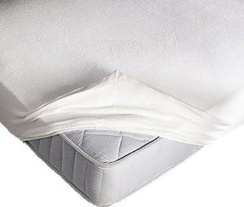 Protector de colchón elástico de toalla con esquinas y elásticos, 3 tamaños. Altura de colchón: 25 cm: Amazon.es: Hogar