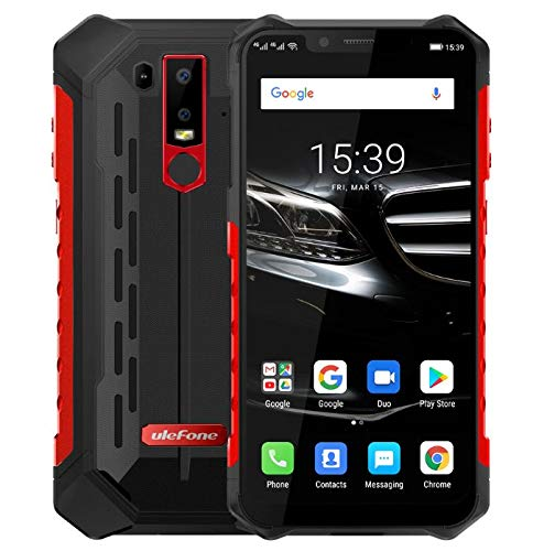(2019) Ulefone Armor 6E Android 9.0 Robustes Smartphone Ohne Vertrag – Helio P70 Octa-Core Outdoor Handy 4 GB + 64GB,6,2…