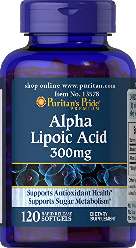 Puritan's Pride Alpha Lipoic Acid 300 mg-120 (300 Mg Softgels)