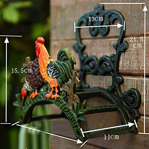 Sungmor Heavy Duty Cast Iron Hose Holder,Garden & Yard Decorative Cocks Wall Mounted Hose Butler,Water Pipe Holds,Rack,Hanger,Antique Wall Decorations by Sungmor (Image #2)