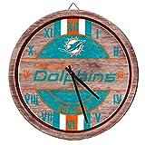 FOCO Miami Dolphins NFL Barrel Wall Clock