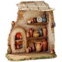 Fontanini Pottery Shop Italian Nativity Village Building Figurine 55584 Italy