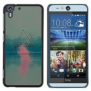 Stuss Case / Funda Carcasa protectora - Rosa motivación trullo Cita - HTC Desire Eye ( M910x )