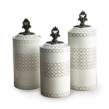 American Atelier Canisters, White, Set of 3