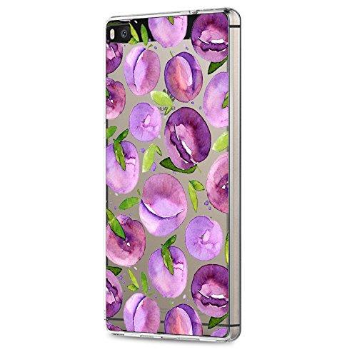 Coque Huawei P8/P8 Lite 2015,Silicone TPU Bumper Housse Protection tui Rsistant Transparente Crystal Case Noir Rouge Anti-Choc Liquid Brillant Cover Dessin Original Bord 8