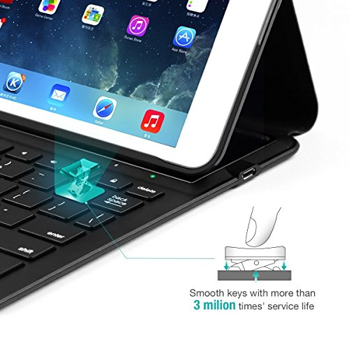 LEVREA iPad Pro 10.5 Keyboard Case, Ultra-Thin Lightweight Bluetooth Keyboard with Magnetically Intelligent Switch and Multi-Angle for Apple iPad Pro 10.5 inch by LEVREA (Image #3)