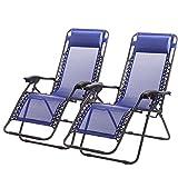Outdoor Yard Beach Zero Gravity Chairs Case Of 2 Lounge Patio...