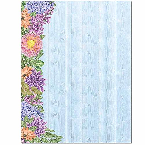 Floral Fence Letterhead Laser & Inkjet Printer Paper, 100 Pack ()
