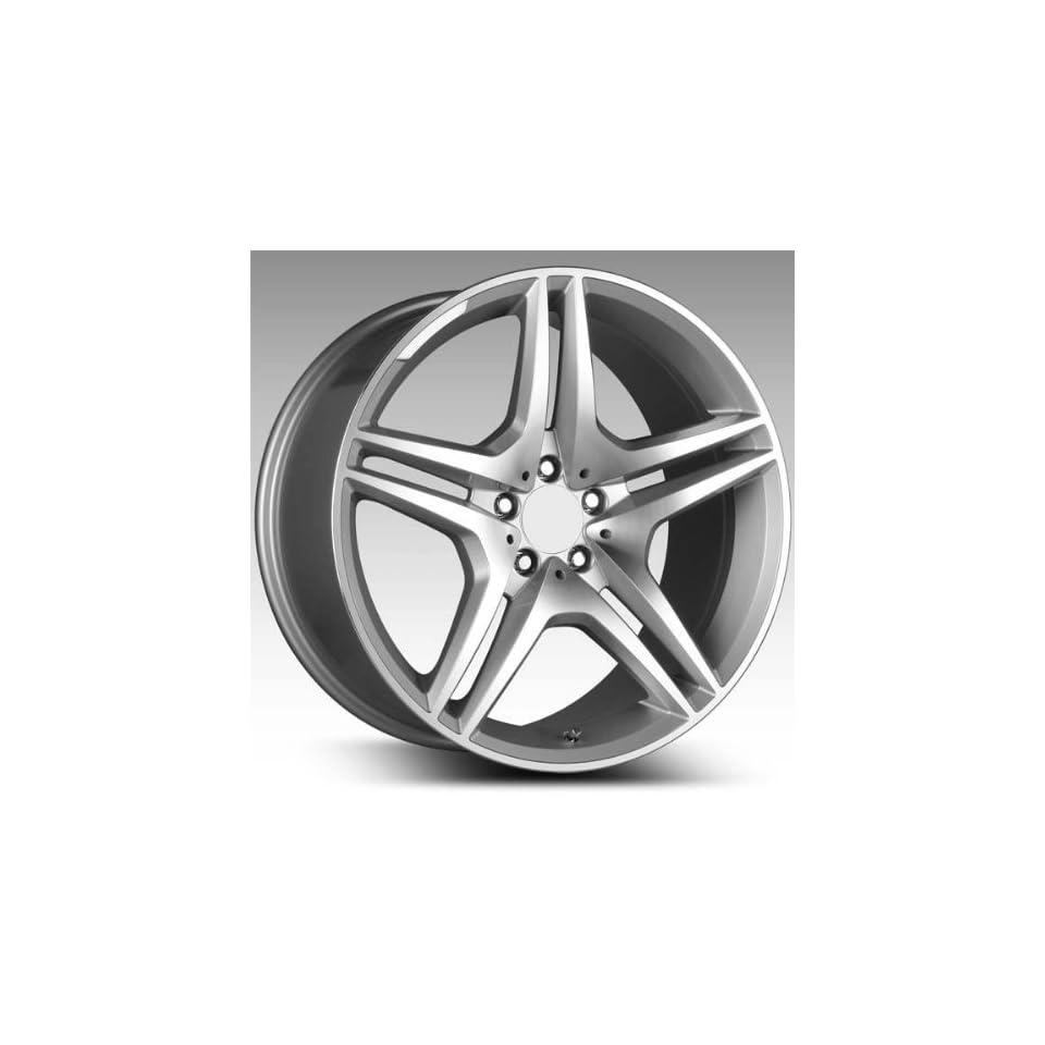 Eurosport MB8 19x8.5 19x9.5 Mercedes Benz C E Class Wheels Rims Hyper Silver Mach Face 4pc   1Set