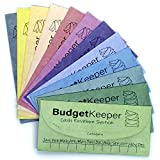 Cash Envelope System for Budgeting and Saving Money Budget Keeper, 12 Pack Assorted Colors, Tear and Water Resistant