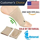 Metarsal Compression Arch Support Sleeves Sock with Comfort Gel Pad Cushions for Women & Men - Arch Brace for Flat Feet, Plantar Fasciitis Sleeves Shoe Insert Insole, Helps Foot Pain Relief, Set of 2