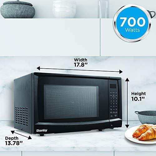 Danby DMW07A4BDB 770BLD DMW07A4BDB 0.7 cu. ft. Microwave Oven, Black.7 cu.ft