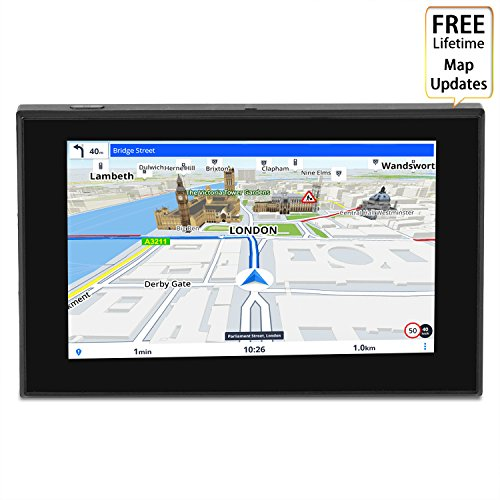 HighSound GPS Navigation for Car, 5 inches 8GB Lifetime Map Update Spoken Turn-to-turn Navigation System for Cars, Vehicle GPS Navigator