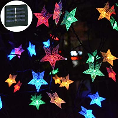 Viewpick Outdoor Solar Garden Star Lights Solar Powered Twinkling Lights
