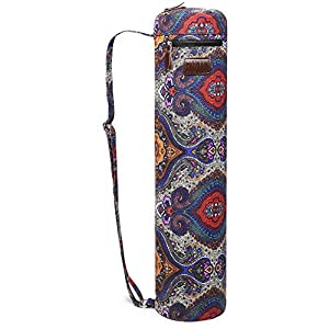 Fremous Yoga Mat Bag,Full-Zip Exercise Yoga Mat Carry Bag for Women and Men – Double Storage Pocket,Easy Access Zipper…