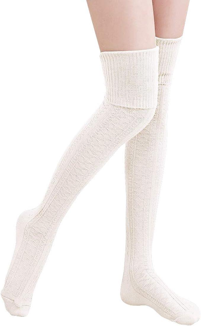 HITOP 1 par por encima de la rodilla medias de algodón atraco ...
