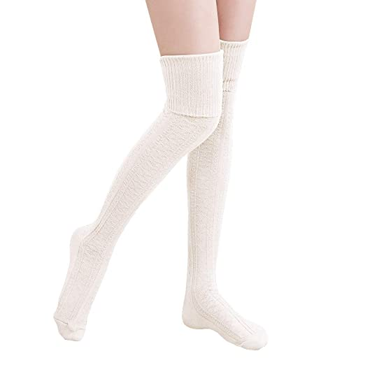 11a79facfd2 HITOP Over Knee Socks Winter Thigh High Stocking Warm Leg Warmer Crochet  Socks Girls Leggings (