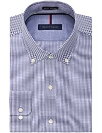 Tommy Hilfiger Men's Non Iron Slim Fit Check Button Down...