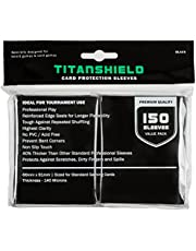 TitanShield (150 Sleeves / Color Standard Size Board Game Trading Card Sleeves Deck Protector for Magic The Gathering MTG, Pokemon, Baseball Collection, Dropmix