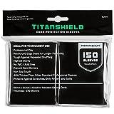 (150 Sleeves/Black) TitanShield Standard Size Trading Card Sleeves Deck Protector for Magic The Gathering MTG, Pokemon, Baseball, Dropmix