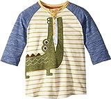 mud pie boy 3t - Mud Pie Baby Boys Alligator Safari Stripe Long Sleeve Raglan T-Shirt, Green, MD/2T-3T