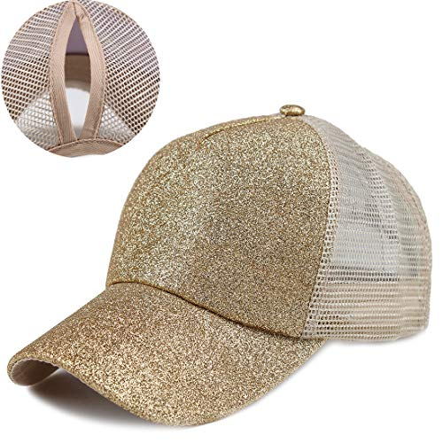- Kekebag Adjustable Ponytail Baseball Cap Mesh Tracker Hats for Women
