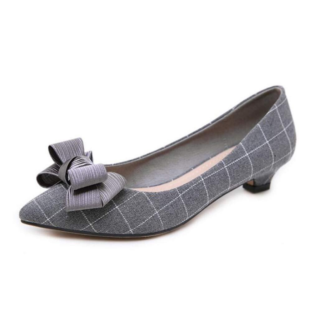 SINXE Women s Wicker Shoes Demi-Season with a Cute Bow; Ladies Shoes Without Buckles with White Collars and Ballet by SINXE