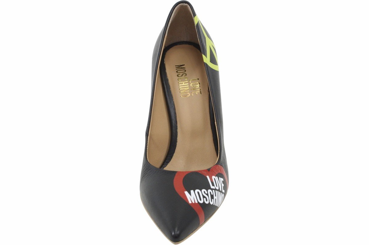 Love Moschino Women's Black Leather Stiletto Heels Shoes Sz: 6 by Love Moschino (Image #5)
