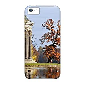 linJUN FENGAwesome Lake In Park With Gazebo Flip Case With Fashion Design For iphone 6 4.7 inch