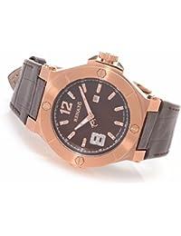 Renato Women's Beauty Swiss Quartz Diamond Accented Leather Strap Watch TW-5157R7-1