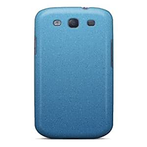 Durable Case For The Galaxy S3- Eco-friendly Retail Packaging(blue Pixels)