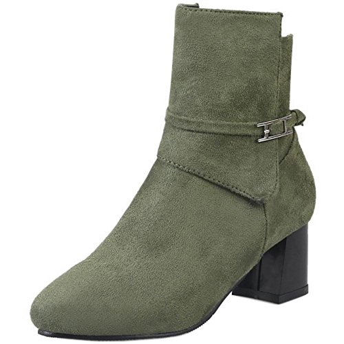 Zipper Boots KemeKiss Women Green Short x4wYtwgZ
