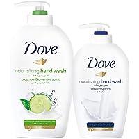 Dove Go Fresh Nourishing Hand Wash, 500ml + Hand Wash 220ml, Assorted