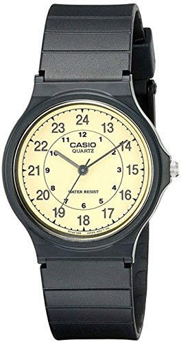 Casio Men's MQ24-9B Classic Analog Watch (24 Hour Watch)