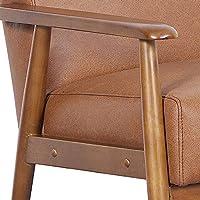 Pulaski Ds D030003 329 Wood Frame Faux Leather Accent Chair 25 38 X 28 0 X 30 5 Cognac Brown Furniture Decor Amazon Com