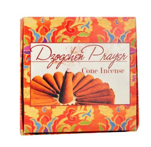 All Natural Wood Dzogchen Herbal Cone Incense, 24 Cones Per Box