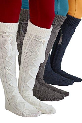 Tie Boot Socks Women's Tall Alpine Boutique Socks Brand by Modern Boho by Boutique Socks