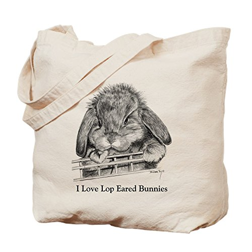 Lop Eared Bunny (CafePress - Lop Eared Bunny - Natural Canvas Tote Bag, Cloth Shopping Bag)