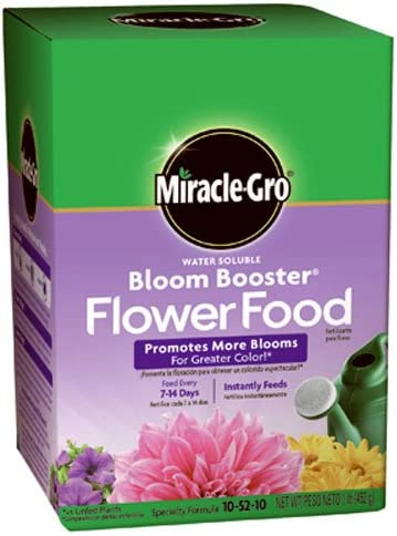 Miracle-Gro 1-Pound 1360011 Water Soluble Bloom Booster Flower Food, 10-52-10, 1 Pack