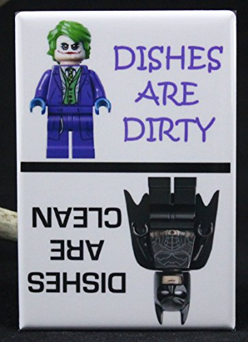 Clean Dirty Batman Legos Dishwasher Magnet Batman